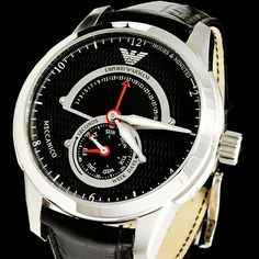 Emporio Armani AR4612 Designer Mens Watch  Brand Name:Emporio ArmaniPart Number:AR4612Case material:Stainless SteelBand material:Black Leather StrapDial color:Brushed stainless steel silver-tone case with pol Movement:Quartz  #watches #classy #emporioarmani #emporioarmaniwatch #emporioarmaniwatches #designer #menswatch #tourbillon #fashion #art #skeleton #perpetual #style #fashion #vogue #instastyle #instawatch #instaclassy #luxury #luxurylifestyle #life #lifestyle #swisswatch #mechanism…