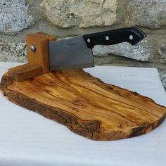 Olive wood and Oak biltong cutter shopper slicer the perfect gift