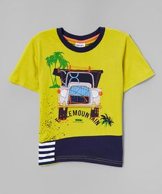 Love this Yellow & Navy Jungle Truck Tee - Infant, Toddler & Boys on #zulily! #zulilyfinds