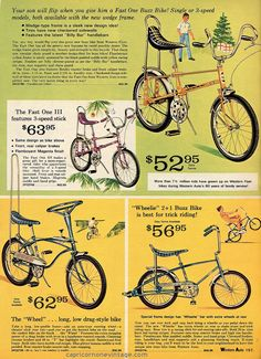 "buzz and ""wheelie"" bikes for boys fall and winter western auto catalog Old Advertisements, Retro Advertising, Velo Biking, Lowrider Bicycle, Chopper Bike, Old Bikes, Cool Bicycles, Classic Bikes, Old Ads"
