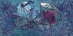 Gallows: In The Belly of a Shark by Dan Mumford | da joneilortiz