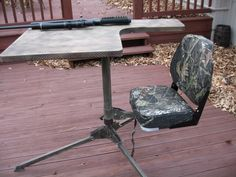 I bought a portable shooting bench from DOA. It is a company of Marines, who are making a heavy duty bench. Portable Shooting Bench, Shooting Bench Plans, Shooting Table, Shooting Rest, Bench Rest, Rifle Accessories, Remington 700, Gun Rooms, Diy Bench