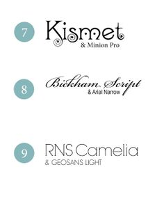 9 Beautiful Wedding Font Combinations #typography #combos #party #shower
