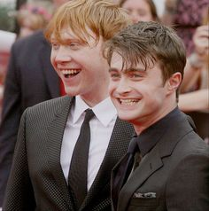 Rupert Grint and Daniel Radcliffe at Harry Potter and the Deathly Hallows - Part 2: NY Premiere.