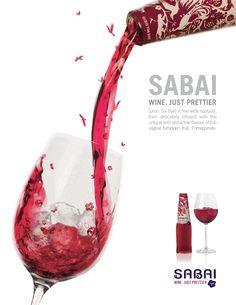 Sabai Wine Ad #Pinterest-Advertisely-food-beverage-ads