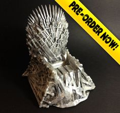 The Iron Throne Dock for your iPhone and other mobile devices. Inspired by the Game of Thrones series