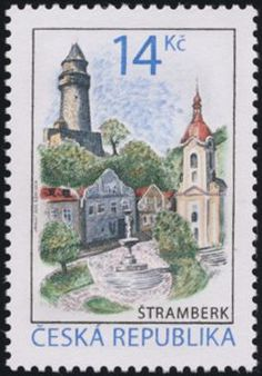 (Beauties of Our Country - Stramberk) Interesting Buildings, Our Country, Czech Republic, Postage Stamps, Taj Mahal, Architecture, Countries, Europe, Painting