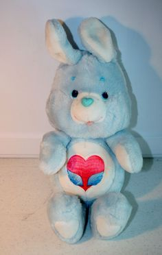1984 Vintage Care Bear Cousins Swift Heart Rabbit PLUSH TOY Kenner #AllOccasion