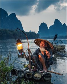 Old Fisherman by photographer Michail Vorobyev