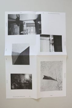 LIGHT is a collection of 6 A3 posters folded down into an A5 booklet. 4 (b/w) were printed in Oslo, Norway by NSEW on their Risograph and 2