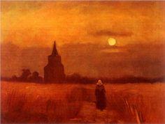The Old Tower in the Fields - Vincent van Gogh...Comment voulez-vous que l'inspecteur s'y retrouve avec une telle différence de couleur pour le MÊME tableau....