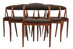 Mid Century Danish Modern Dining Chairs by Kai Kristiansen. Danish Style, Danish Modern, Mid-century Modern, Contemporary, Mid Century Dining Chairs, Dining Chair Set, Fine Dining, Bar Stools, Kai
