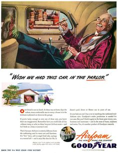 GoodYear Wish We Had This Car In Parlor 1944 - www.MadMenArt.com | Through this…