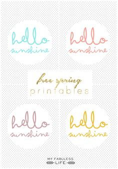 My Fabuless Life: FREE SPRING PRINTABLES - maybe if I pin it and print it, Sunshine will come???