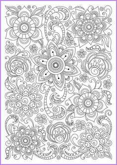 Flower Abstract Doodle Zentangle Coloring pages colouring adult detailed advanced printable Kleuren voor volwassenen coloriage pour adulte anti-stress kleurplaat voor volwassenen Coloring page PDF adults and children printable by ZentangleHouse: