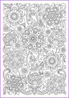 Flower Abstract Doodle Zentangle Coloring pages colouring adult detailed advanced printable Kleuren voor volwassenen coloriage pour adulte anti-stress kleurplaat voor volwassenen Coloring page PDF adults and children printable by ZentangleHouse: