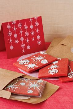 Red Holiday Card Cookies  - CountryLiving.com