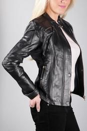 Beautiful Armani Leather Jacket In Dark Blue