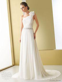 Elianna Moore wedding gowns 2011 bridal collection - Bruna one shoulder chiffon wedding dress