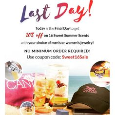 Time is running out!!! Today is the last day to order these beauties at 20% off.  ::: Come visit http://ift.tt/1IeUHGb  #candles #ecofriendly #healthy #lush #sale #nvusddjic #jewelry #homedecor #interiordesign #spa #relax #yogi #sahm #bosslife #fruit #spring #summer #hot #summer16 #sale #memorialday