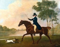 George IV when Prince of Wales, 1791. Painted by my favorite, George Stubbs.