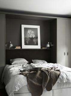 Dark grey bedroom