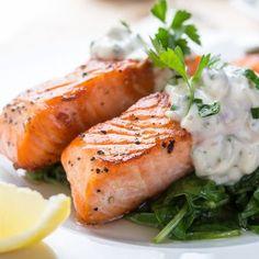 Lemon Salmon Steaks w/ DILL Tartar Sauce frm Grandmother's Kitchen