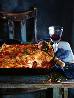 Slow cooked pulled pork lasagne