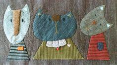 냐옹이 가족^^ : 네이버 블로그 Aplique Quilts, Wool Applique Quilts, Wool Quilts, Wool Embroidery, Applique Patterns, Quilt Patterns, Cute Quilts, Animal Quilts, Textiles