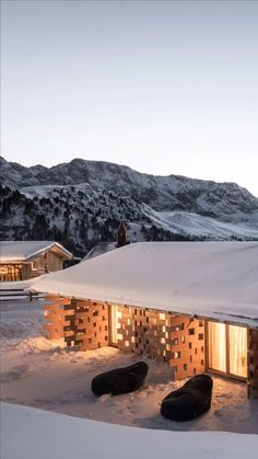 The Bolzano & Berlin-based architectiure firm noa* network of architecture led by Lukas Rungger and Stefan Rier has designed ''Zallinger'' a scattered hotel at high altitude in Saltria , Italy. Hotel Architecture, Sustainable Architecture, Contemporary Architecture, Landscape Architecture, Central Building, Round House, Hotel Lobby, Lounge Areas, Large Windows
