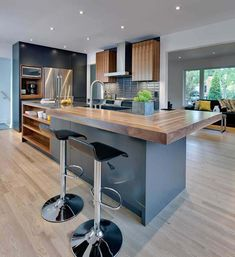 32 Lies Youve Been Told About Design Aspects to Consider in Contemporary Kitchen Renovation - homevignette Kitchen Room Design, Modern Kitchen Design, Home Decor Kitchen, Kitchen Living, Interior Design Kitchen, Kitchen Furniture, New Kitchen, Home Kitchens, Kitchen Hacks