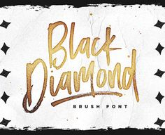 Unleash Some Edgy Attitude With Black Diamond! Black Diamond isn't your average brush font, it's raw, edgy and bursting with attitude! Hand-painted with extra attention to quick-strokes and dry textures, Black Diamond is guaranteed to deliver a loud, proud & carefree message – ideal for logos, handwritten quotes, product packaging, merchandise, social media & greeting ... read more