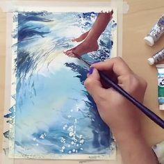 WEBSTA @ watercolor.blog -  Watercolorist: @lulebedeva#waterblog #акварель #aquarelle #painting #drawing #art #artist #artwork #painting #illustration #watercolor #aquarela