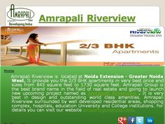 Amrapali Riverview Price Number may assist you to a whole lot in buying magnificent properties, which are perfectly and perfectly planned out and ingeniously designed.  It provides luxurious 2BHK and 3BHK apartments in the 845 sq ft to 1145 sq ft size range.