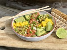 Pokè bowl for 2 – Berit Nordstrand Poke Bowl, Cobb Salad, A Food, Bowls, Eat, Cooking, Serving Bowls, Kitchen, Mixing Bowls
