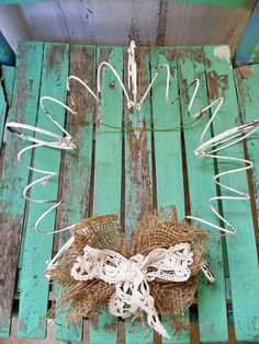 Rusty recycled bed spring wreath hand painted by AnitaSperoDesign, $35.00