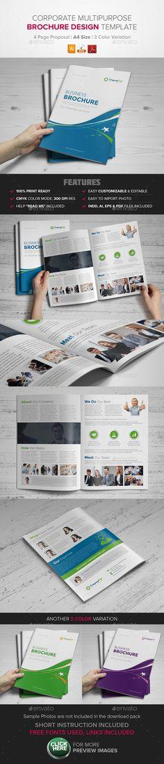Corporate Multipurpose BiFold Brochure Template