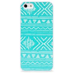 BlissfulCASE IPhone 5/5S Aztec Geo line Mint Case found on Polyvore