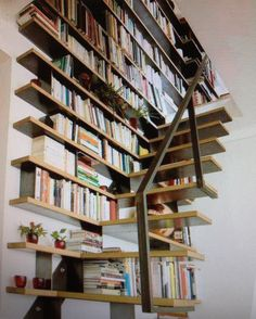Stairs and library in one