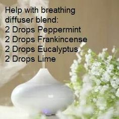 Breathing...diffuser blend