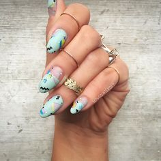 Love this look by the bestest @ninanailedit using my Geometry nail tattoos  so cool! Now, did you know there's a sale on selected nail tattoos fatjunkieshop.com #fatjunkienailtattoos #ninanailedit #fatjunkie #fatjunkieshop #geometry #geometricnails #nails #nailart #nailgame #naildecals #nailstickers #nailtattoos