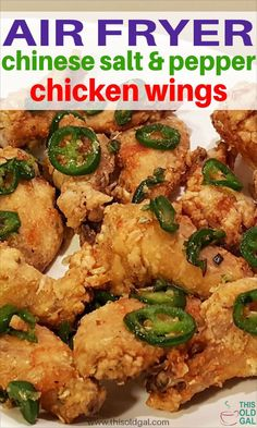 With only a few ingredients, these Air Fryer Chinese Salt & Pepper Chicken Wings are big on flavor, like you get from an expensive Chinese restaurant! Chinese Fried Chicken Wings, Chinese Chicken Wings, Air Fry Chicken Wings, Cooking Chicken Wings, Chinese Pepper Chicken, Chinese Wings, Healthy Fried Chicken, Making Fried Chicken, Healthy Chicken Recipes