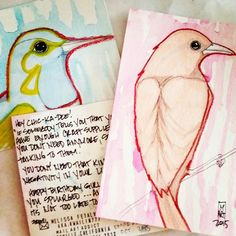 Mail art by Melissa Fetalvero of ATC's For All. Click to view original