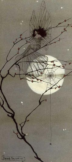 Moonlit Fairies - Elizabeth Mary Watt, 1912