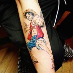 Tatuaje inspirado en Luffy.