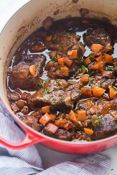 Braised Short Ribs Recipe - Tastes Better From Scratch Tender cooked ribs in a delicious, rich sauce, served over creamy mashed potatoes. All cooked in just one pot! Braised Short Ribs, Braised Beef, Short Rib Stew, Rib Recipes, Cooking Recipes, Cooking Ribs, Recipies, Dinner Recipes, Cooking Beets