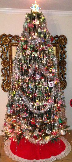 Retro Christmas Tree with ice sickles.
