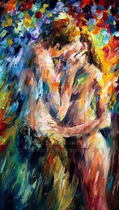 lovely kiss - leonid afremov by *Leonidafremov on deviantART