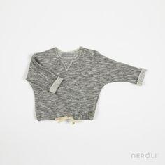 Chaqueta sudadera gris para bebé de 1 + In The Family. #baby #jacket #fashion #NeroliByNagore #SS14 #OneMoreInTheFamily