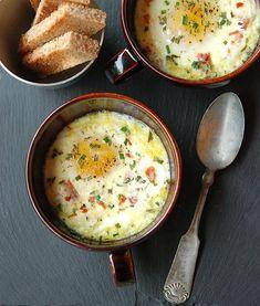 Baked Eggs w/Prosciutto